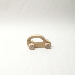 Cotxe de fusta natural